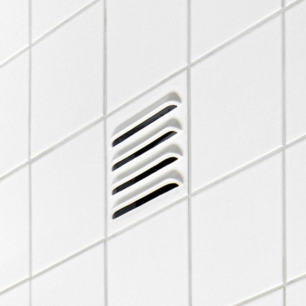Ventilatie tegel: tegel met ventilatierooster