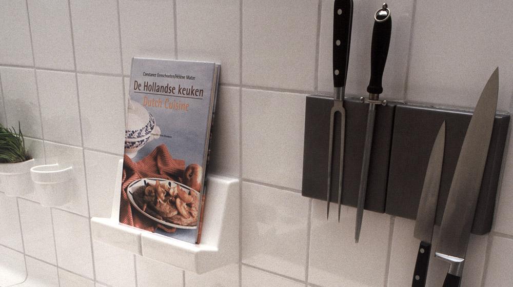 moderne keuken  tegels, droog design