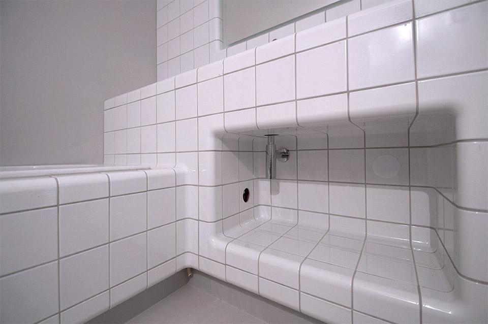 hoekprofiel tegel in badkamer