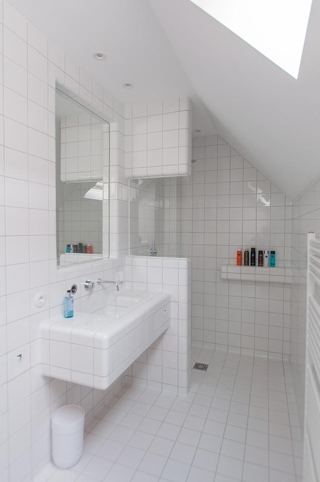 3d tegels badkamer wit