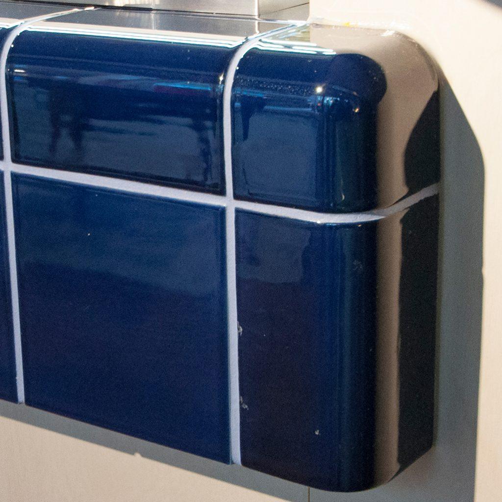 3d tegel, kleur nacht blauw, geïntegreerde functie, gebruik in horeca, keuken of badkamer