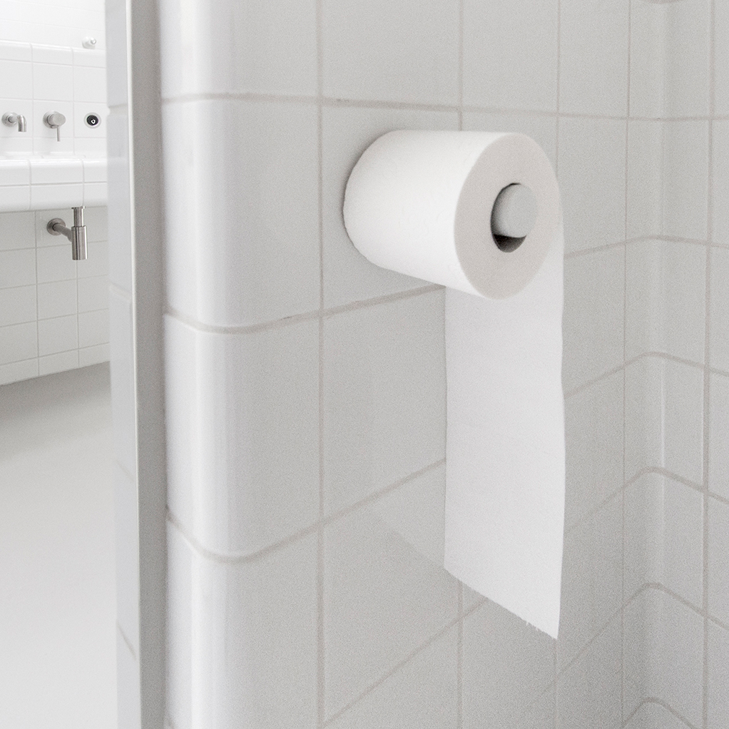 Toiletrol houder: tegel met toiletrol houder