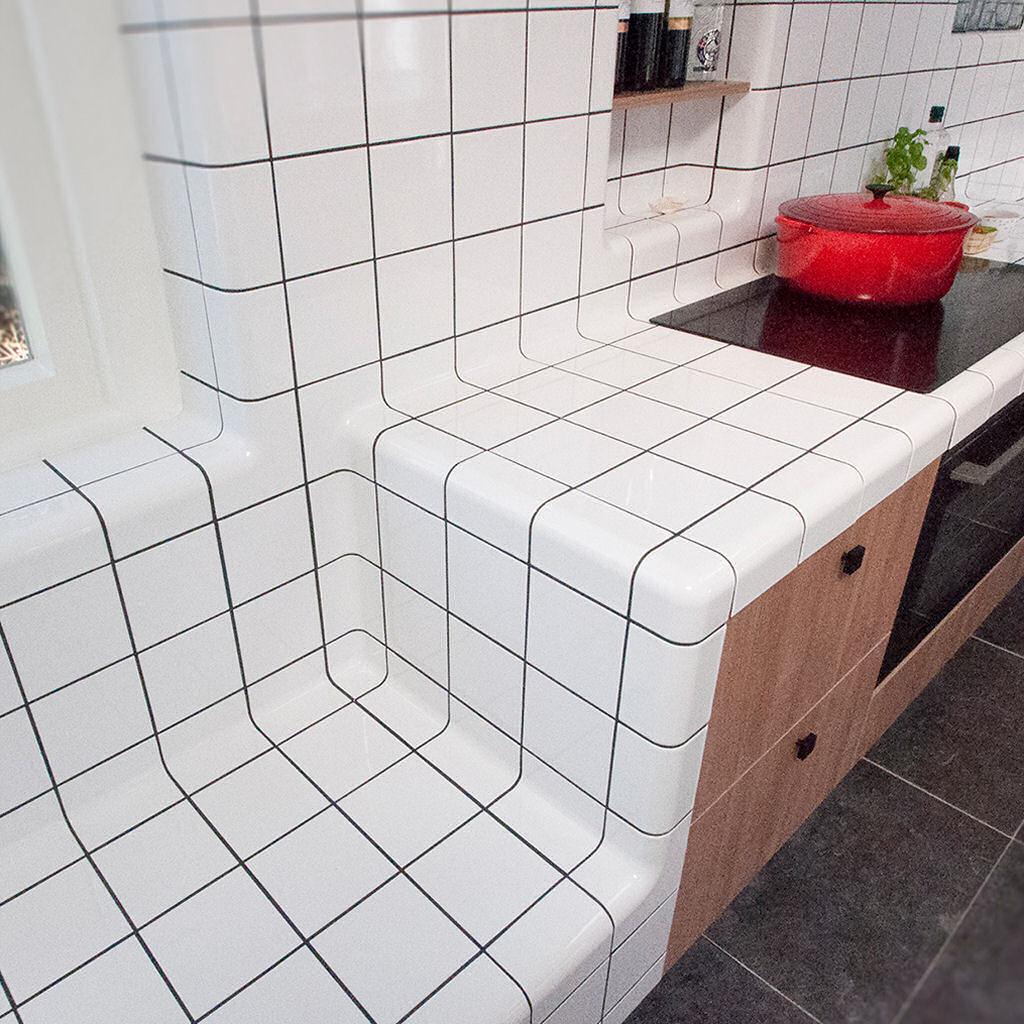 keuken moderne tegels, tuinhuis