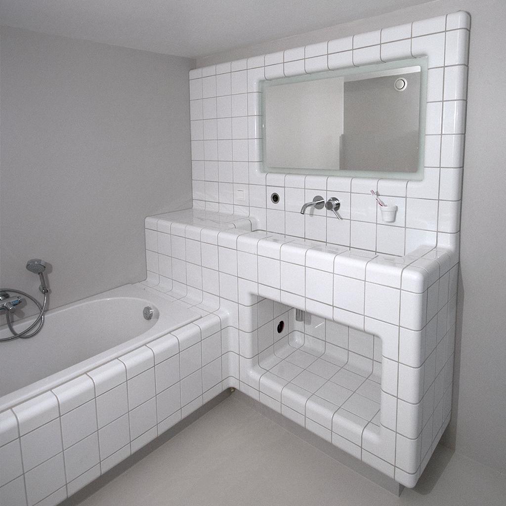 Badkamer moderne tegels