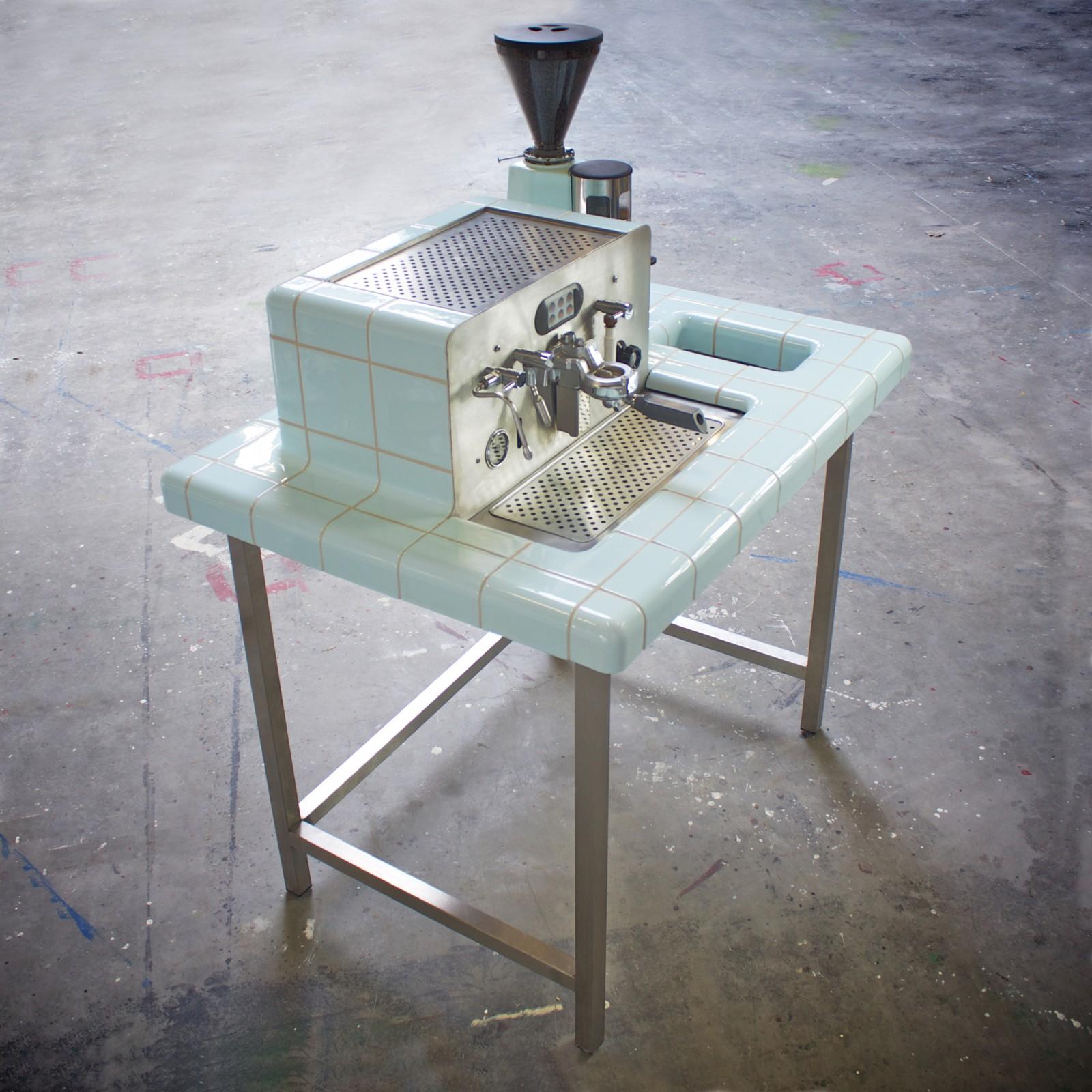 Design tegels - koffiemachine
